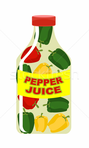 Pepper juice. Juice from fresh vegetables. Colored peppers in a  Stock photo © popaukropa