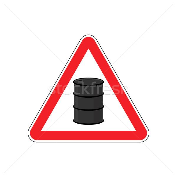 нефть внимание знак символ предупреждение опасный Сток-фото © popaukropa