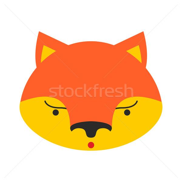 キツネ 顔 かわいい 頭 子供 ストックフォト © popaukropa