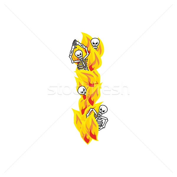 Stok fotoğraf: Mektup · i · Alevler · ateşli · yangın · alfabe