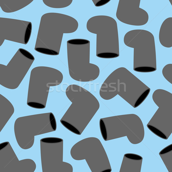 Valenki seamless pattern. Background of Russian Winter boots. Tr Stock photo © popaukropa