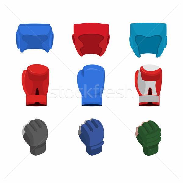 boxing gloves, helmet, gloves for the mix fight Stock photo © popaukropa