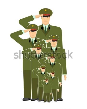 Ruso militar oficial aislado soldado Rusia Foto stock © popaukropa