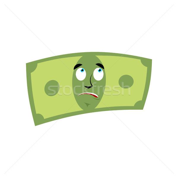 Money surprised emotion. Cash Emoji astonished. Dollar isolated Stock photo © popaukropa