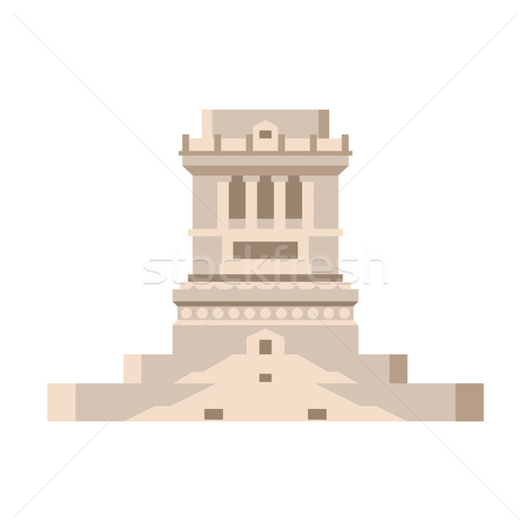 Pedestal of statue of liberty empty isolated. stand on Liberty I Stock photo © popaukropa