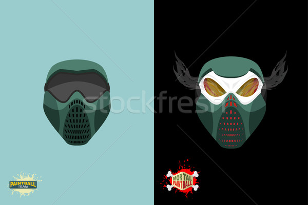 paintball  Mortal mask. Stock photo © popaukropa