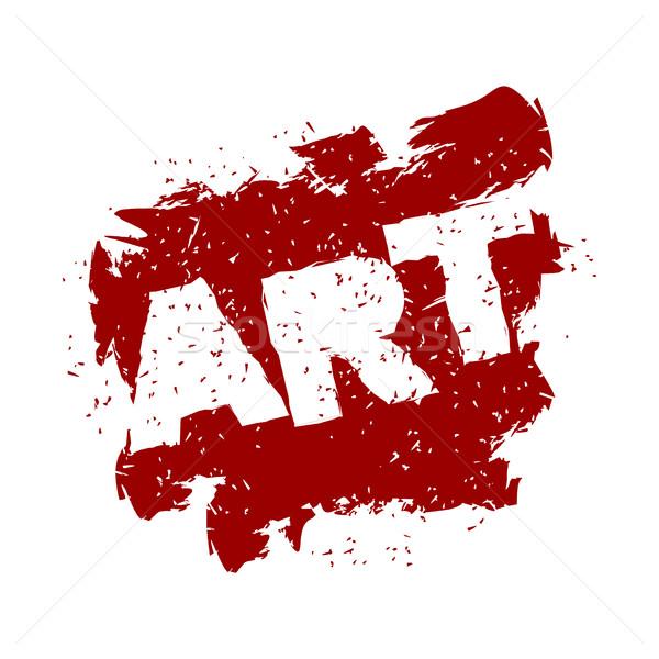 Művészet logo grunge stílus spray zaj Stock fotó © popaukropa