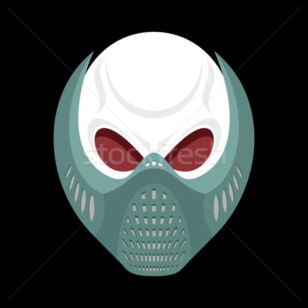 Esqueleto cabeza paintball casco cráneo máscara Foto stock © popaukropa
