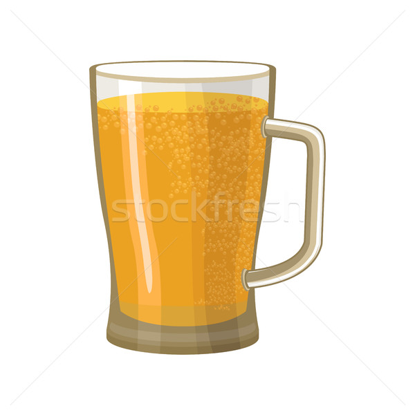 Beer Mug isolated. pot alcohol. Foam drink Stock photo © popaukropa