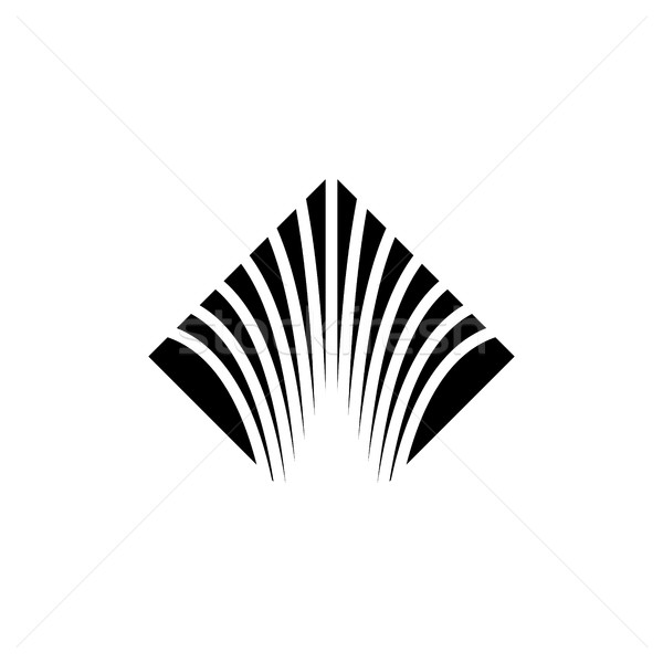 flow of information logo  cut wire abstract emblem  vector