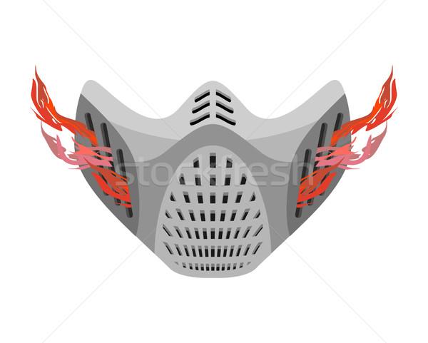 Maske gelecek fantastik uzay kask boya Stok fotoğraf © popaukropa