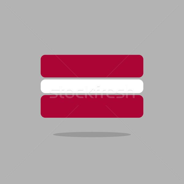 Lettország zászló stilizált mértani elemek textúra Stock fotó © popaukropa