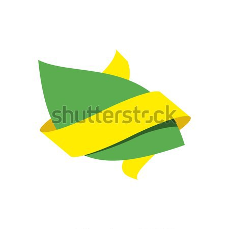 Green leaf bio emblem. Sign for natural product. Eco production  Stock photo © popaukropa