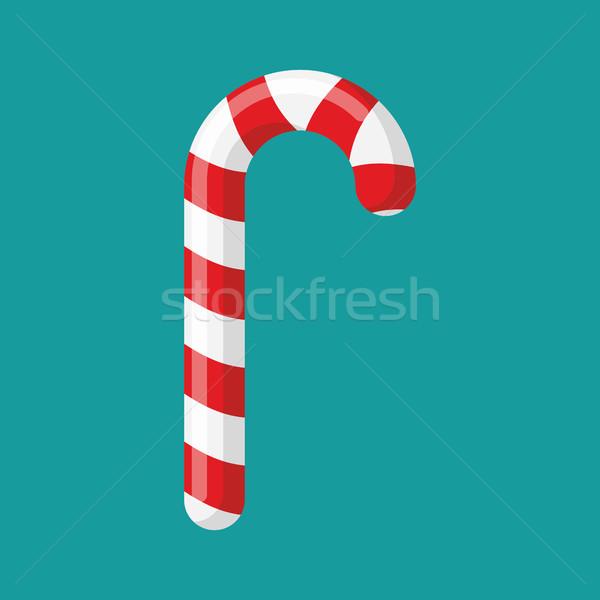 Karácsony menta cukorka piros izolált nyalóka Stock fotó © popaukropa