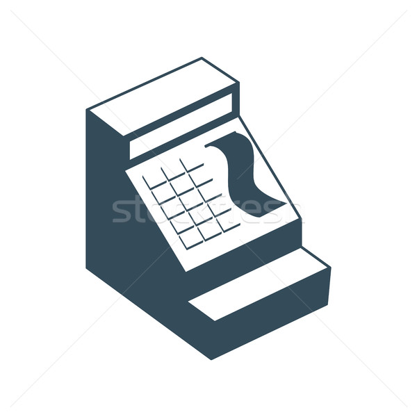 Cash register isolated. Financial accessory store on white backg Stock photo © popaukropa