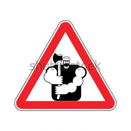 Attenzione cappio rosso triangolo cartello stradale pericolo Foto d'archivio © popaukropa
