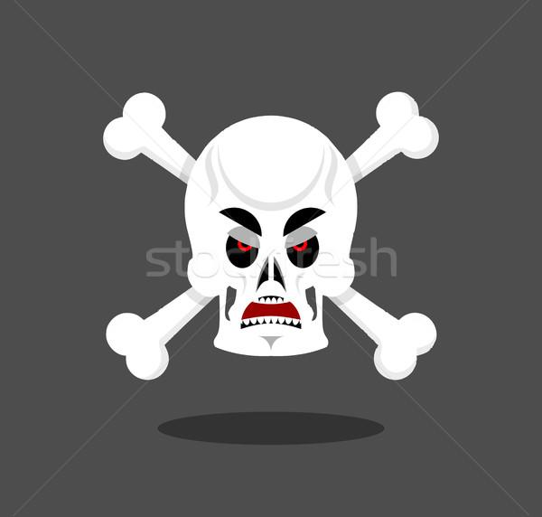 Mérges koponya érzelem agresszív csontváz fej Stock fotó © popaukropa