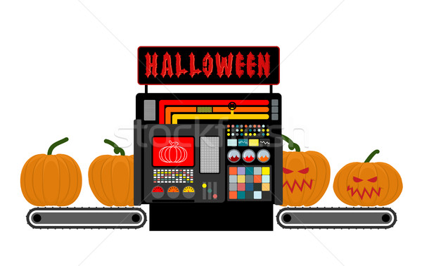 Halloween fabbrica fabbricazione scary zucca Foto d'archivio © popaukropa