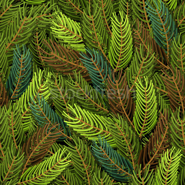 Seamless spruce pattern. Military background. Army structure fro Stock photo © popaukropa