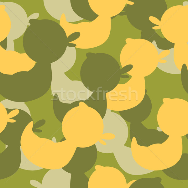 Military camouflage rubber ducks. Military Vector texture. Sold Stock photo © popaukropa