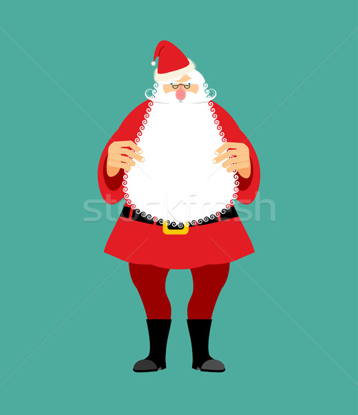 Santa Claus isolated. Granddad in red suit and white beard. Chri Stock photo © popaukropa