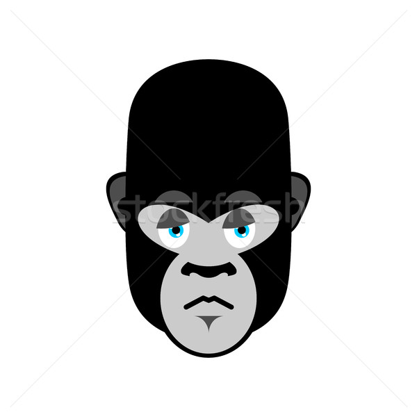 Gorilla sad Emoji. Monkey dull emotion isolated Stock photo © popaukropa