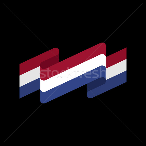 флаг лента изолированный голландский лента баннер Сток-фото © popaukropa
