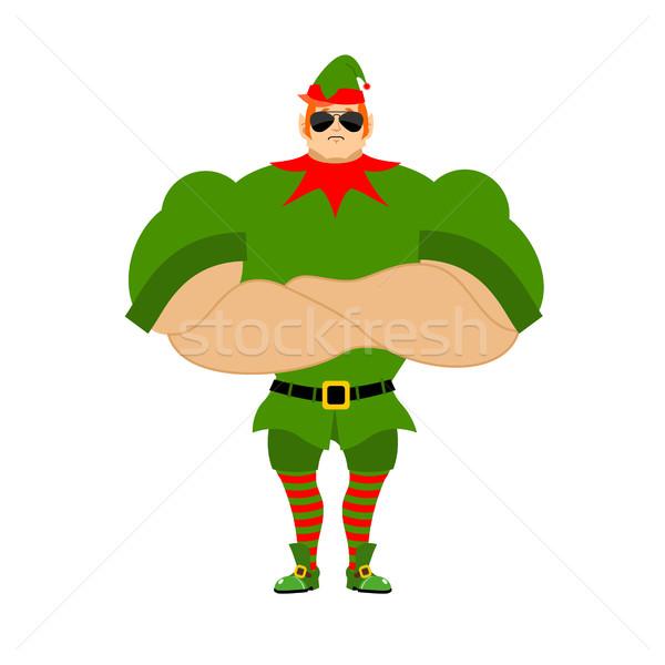Stock fotó: Mikulás · manó · erős · karácsony · ajándékok · új