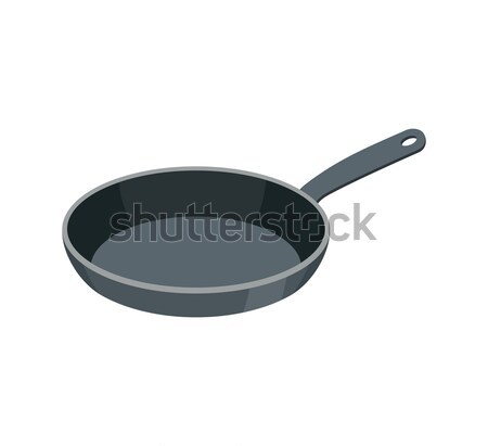 Frying pan isolated. Kitchen utensils for cooking food Stock photo © popaukropa