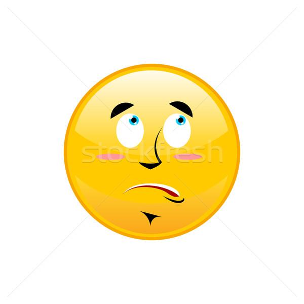 Surprised Emoji isolated. astonished yellow circle emotion isola Stock photo © popaukropa