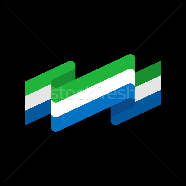 Sierra Leone flag ribbon isolated. Republic tape banner. Nationa Stock photo © popaukropa