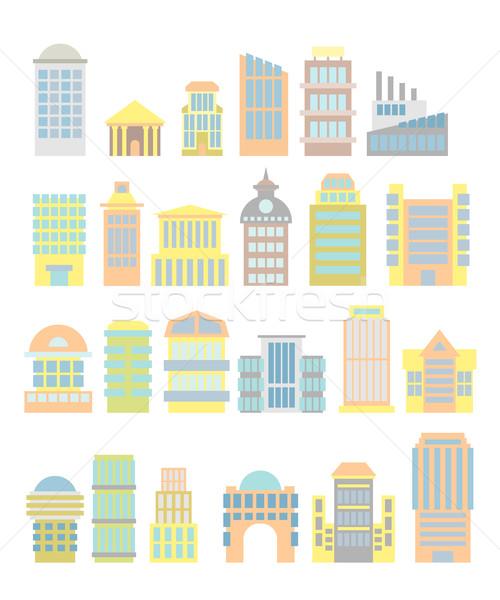 Set afaceri proprietate cumpărături spital Imagine de stoc © popaukropa
