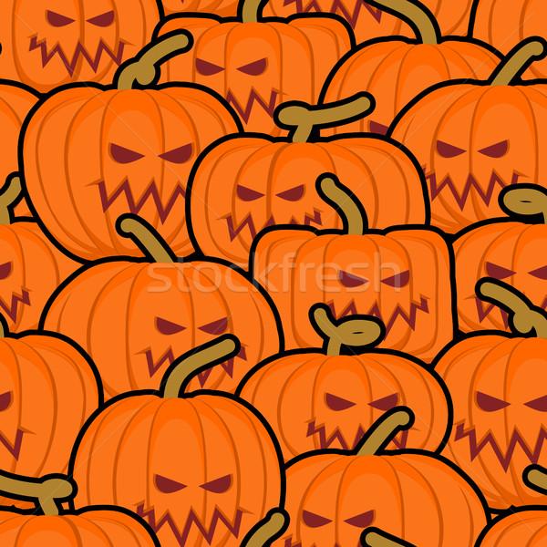 Sütőtök végtelen minta halloween ijesztő zöldség textúra Stock fotó © popaukropa