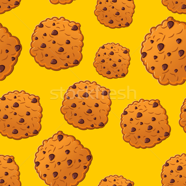 Stockfoto: Cookies · patroon · biscuit · druppels · cookie · textuur