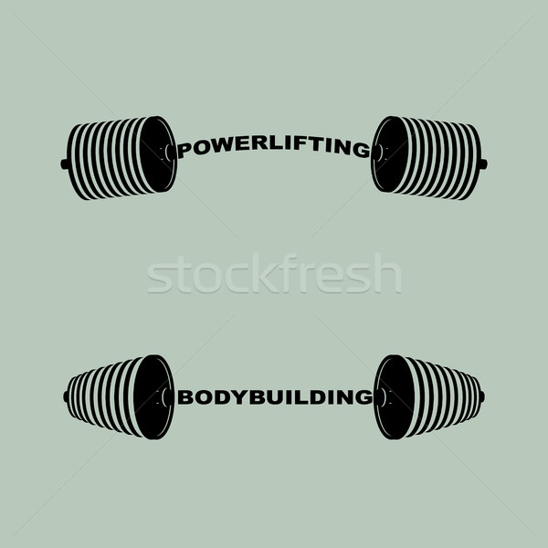 セット スポーツ ロゴス バーベル ボディービル 筋力トレーニング ストックフォト © popaukropa