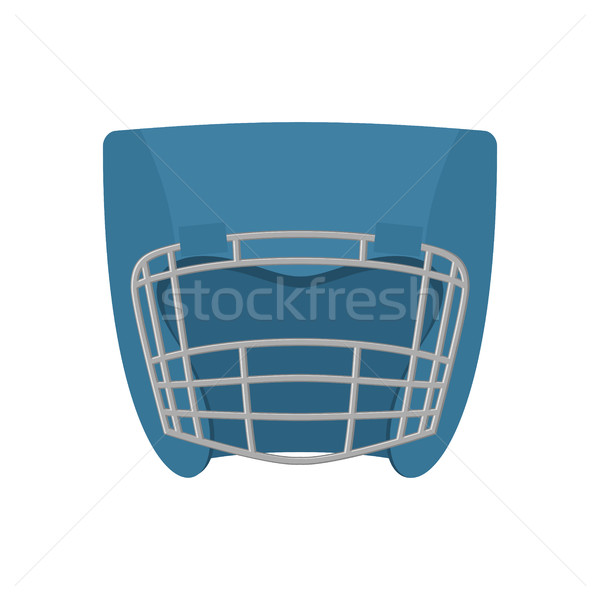 Boxing helmet blue. Boxer mask isolated. Spor Accessory for trai Stock photo © popaukropa