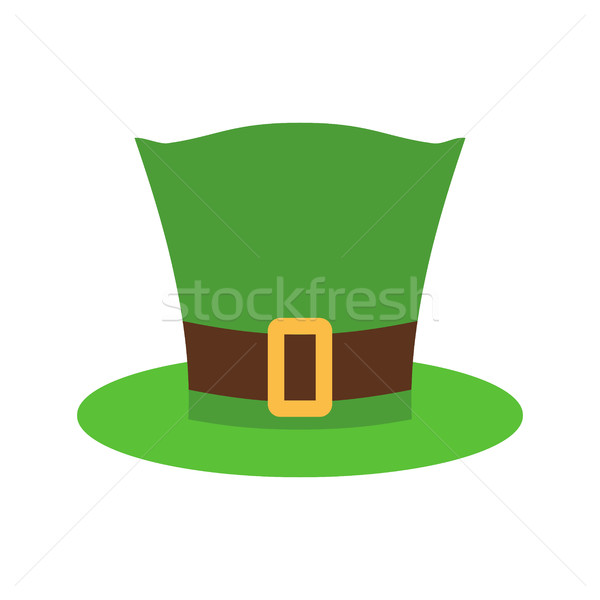 Leprechaun Hat green isolated. National Irish retro cap for dwar Stock photo © popaukropa