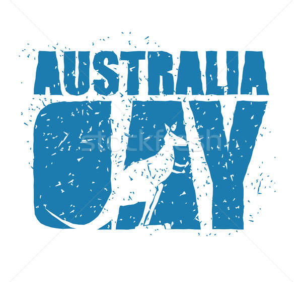 Australia Day. Traditional Australian patriotic holiday. Kangaro Stock photo © popaukropa