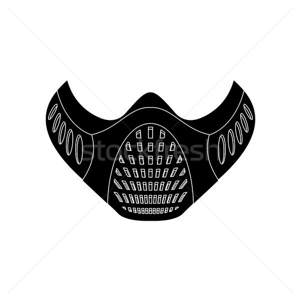 Treinamento máscara isolado esportes atleta natureza Foto stock © popaukropa