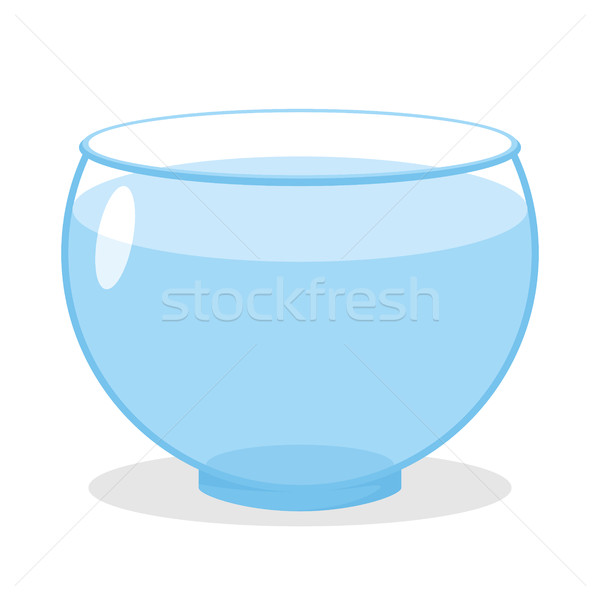 Aquarium with water. Transparent glass tank for fish content. Ve Stock photo © popaukropa