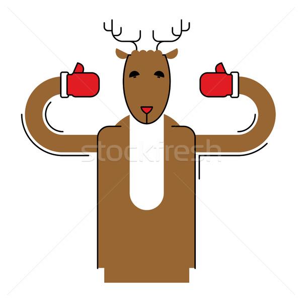 Ciervos aislado Navidad animales bestia Foto stock © popaukropa