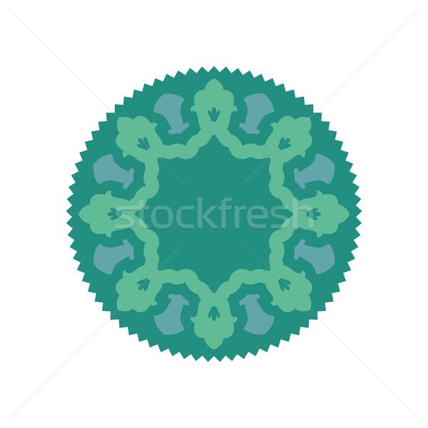 Iszlám sablon szimbólum dísz embléma muszlim Stock fotó © popaukropa