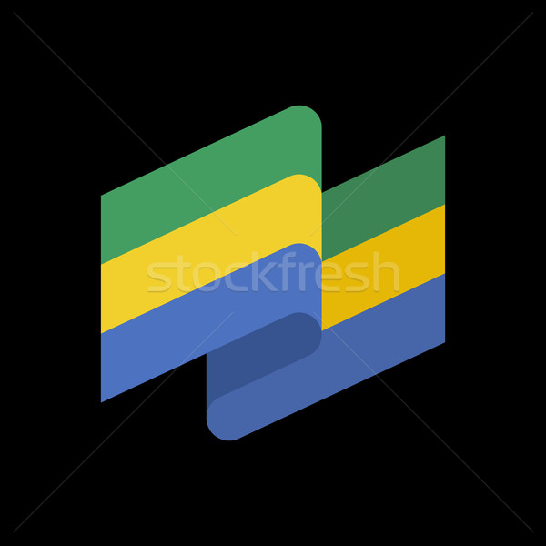 Gabon flag ribbon isolated gabonese republic tape banner state add to lightbox download comp sciox Gallery