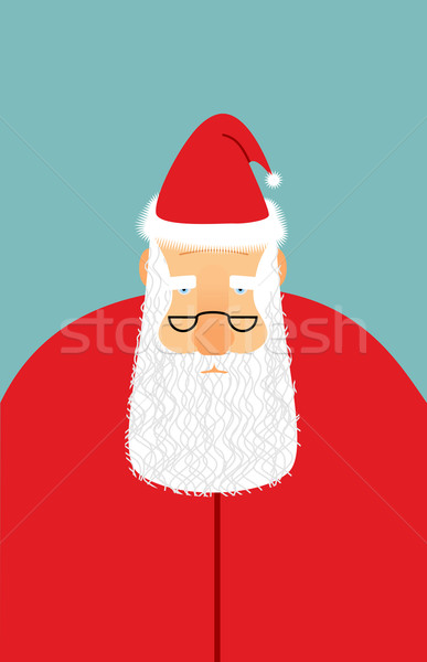 Santa Claus is watching you. Christmas Santa with beard and glas Stock photo © popaukropa