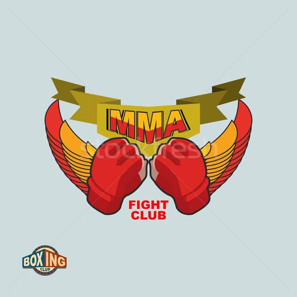 Mixed Martial Arts logo. MMA emblem Stock photo © popaukropa