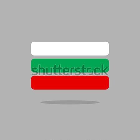 Болгария флаг стилизованный геометрический Элементы небе Сток-фото © popaukropa