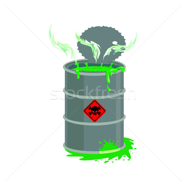 Radioactifs déchets baril toxique toxique liquide Photo stock © popaukropa