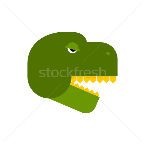 Tyrannosaurus face. Angry dinosaur head. T-Rex front Stock photo © popaukropa
