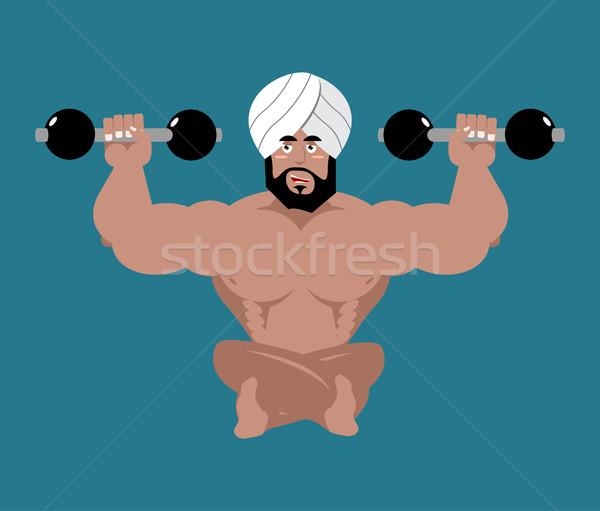 Indian sportowiec fitness sportowiec Indie jogi Zdjęcia stock © popaukropa