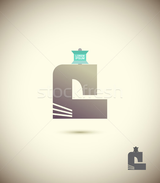 Logo sewing machine. The concept for the sewing workshop, fashio Stock photo © popaukropa